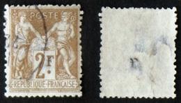 N° 105 2F SAGE Bistre/azuré Déf. Aspect TB Cote 60€