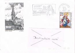 37 - Flamme De LANGEAIS Sur Enveloppe Illustrée De Langeais, Timbre Surtaxe Croix Rouge 1993 - Marcophilie (Lettres)