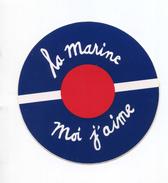 "Sticker Autocollant Marine Nationale Années 70 ""La Marine, Moi J'aime""  French Navy Sticker - Marins - Marin - Boten"