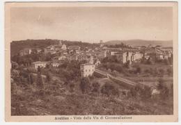 """Card Cartolina Avellino """"Vista Dalla Via Di Circonvallazione'""""-Viaggiata Italy Italia - Avellino"""