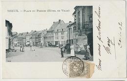 Theux Place Du Perron Affiche Velodrome Verviers - Theux