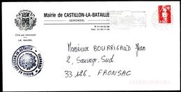 Lettre De La Mairie De CASTILLON-LA-BATAILLE - Flamme Illustrée