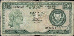 """CYPRUS (GREECE) 10 POUNDS 1-9-1983 (Pick 48b) Poor """"free Shipping Via Registered Air Mail"""" - Chypre"""