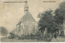Compagnie Au Repos Sur La Route De Baelen Eglise De Schapschoor Edit Mondelaers - Baelen