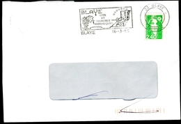 Lettre De BLAYE (Gironde) - Flamme Illustrée