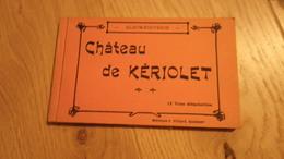 CHATEAU DE KERIOLET - Album Souvenir De 12 Cartes Postales éditions J. Villard Quimper - Concarneau