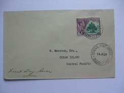 GILBERT & ELLICE ISLANDS GEORGE VI 1939 FDC WITH RARE OCEAN ISLAND POSTMARKS - Gilbert & Ellice Islands (...-1979)