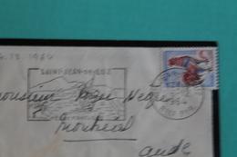 SAINT  JEAN  DE  LUZ.  -         SUR  MIGNONNETTE  COMPLÉTE       AVEC  CARTE  VISITE  MONSEIGNEUR  ANDRE  BOYER  -  MAS - Marcophilie (Lettres)