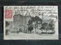 G3 - 11 Cité De Carcassonne - Porte Narbonnaise Et Tour Du Trésaut - Précurseur  - 1902 - Carcassonne