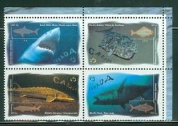 Canada 1997 Y&T 1511/1514 Mint Bloc De 4 Timbres Poissons Marins