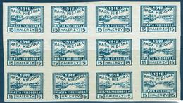 PRZEDBORZ MICHEL N°17 Feuillet 12 Timbres Non-dentelés - Contrefaçon - ....-1919 Provisional Government