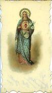 S 27 SANTINO SU CELLULOIDE - SACRO CUORE DI MARIA - SUL RETRO DEDICA AUTOGRAFA 1900 - Religione & Esoterismo