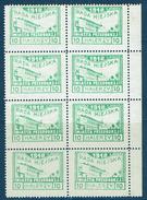 PRZEDBORZ MICHEL N°16 Feuillet 8 Timbres Dentelés 11,5 - Contrefaçon - ....-1919 Provisional Government