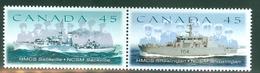 Canada 1998 Y&T 1618/1619 Mint Paire Attenante Vaisseaux De La Marine Canadienne
