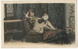 Orientalisme Femme Danseuse Du Ventre Belly Dancer Seins Nus - Nus Adultes (< 1960)