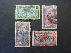 CONGO FRANCAIS, Année 1907-17, YT N° 51-52-57-59 Oblitérés - Congo Français (1891-1960)