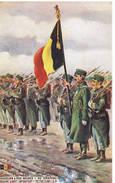 466 Chasseur A Pied Belge Le Drapeau - Guerre 1914-18