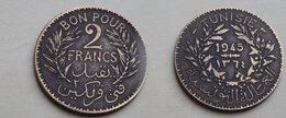 Tunisie  2 Francs 1945 Alu Bronzel  TTB - Tunisie