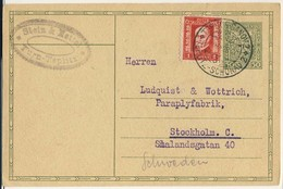 (P68) - TCHECOSLOVAQUIE - UPRATED POSTCARD  - TEPLICE SANOV TEPLITZ SHONAU => SWEDEN 1928