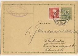 (P68) - TCHECOSLOVAQUIE - UPRATED POSTCARD  - TEPLICE SANOV TEPLITZ SHONAU => SWEDEN 1932
