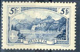Svizzera 1928 N. 230 F. 5 Veduta Rutli Modificato MH Centratissimo Cat € 200 - Svizzera