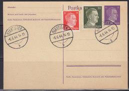 Germany (Deutsches Reich) 6.VI.1944 Postal (stamped) Stationery - Allemagne