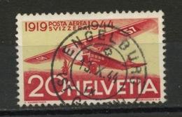 SUISSE : POSTE AERIENNE N° Yvert 37 Obli.