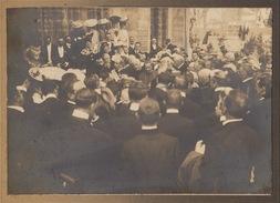 Photo Sur Carton Ostende Roi Léopold II Inauguration De Sait Pierre Et Paul De Schneidauer De Smet De Nayer - Places