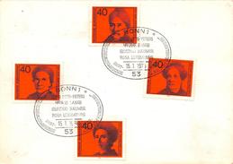 Carte Allemage Fédérale 1974 - OTTO PETERS - HELENE LANGE - GERTRUD BAUMER - ROSA LUXEMBURG - BRD