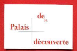 991-1 - Ticket D'entrée Palais De La Découverte - Biglietti D'ingresso