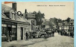 NO PAYPAL *** Carte Postale AUMALE (S.-Inf.) - Maison Decostre, Marbrier + Ambulant Abancourt A EU 1914