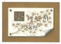 Ancienne étiquette Rhum Vieux    Imp  Lith J Goffin   Brux  N°207 Vers 1880 - Rhum
