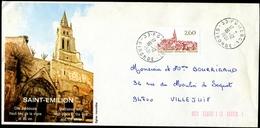 Enveloppe Illustrée R/v + Timbre SAINT-EMILION - Cachet POMEROL