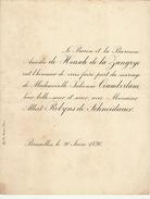 Mariage De Heusch De La Zangrye Ciamberlani Et Robyns De Schneidauer 1896 - Wedding