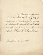 Mariage De Heusch De La Zangrye Ciamberlani Et Robyns De Schneidauer 1896 - Mariage