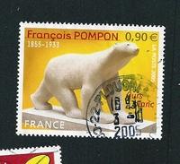 N° 3806  L'ours Blanc Sculpture 1929 Timbre France  Oblitéré 2005 - France