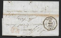 Rhone - Cachet D' Essai De Lyon  1847 - Marcophilie (Lettres)
