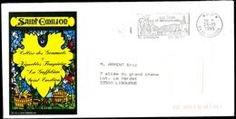 Enveloppe Illustrée R/v + Flamme P.P. SAINT-EMILION