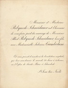 Mariage Robyns De Schneidauer Cianberlani 1896 - Wedding