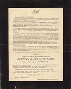 Décès D'Albert Robyns De Schneidauer - Obituary Notices