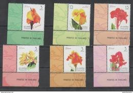 THAILAND ,2016, MNH, FLOWERS, 6v - Plants