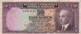 TURKEY 50 KURUS 1930 P-133 VF - Turkije