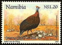 NAMIBIA, 1997, MNH  Stamps, Guinea Fowl, Michel 836, #13230 - Namibia (1990- ...)