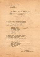 Pisa Inno Della Regata Delle 4 Repubbliche Marinare - Partitions Musicales Anciennes