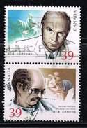 Kanada 1990, Michel# 1171 - 1172 O Zusammendruck Norman Bethune In China