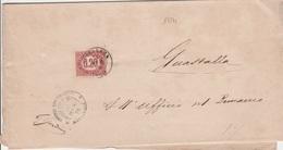 17271# ITALIE FRANCOBOLLO LETTRE Obl NOVELLARA EMILIA 1876 Pour GUASTALLA ITALIA - 1861-78 Vittorio Emanuele II