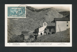 ANDORRE -1931 Carte Maxi 5cts Vert Notre Dame De MERITXELL