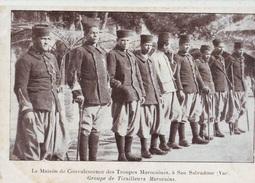 CPA Hyères - Carqueiranne - San Salvadour - Groupe De Tirailleurs Marocains TOP - Hyeres