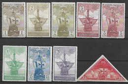 SPAIN 1930 Sc#418-26  Chr.Colombus, SHIPS Incomplete Set MH - 1889-1931 Kingdom: Alphonse XIII
