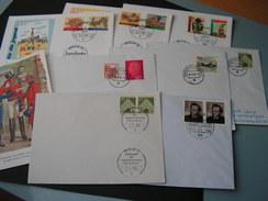 Germany 9 Belege  Lot - Briefmarken
